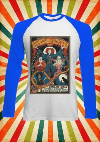 Sanderson Sisters Hocus Pocus Men Women Long Short Sleeve Baseball T Shirt 2259