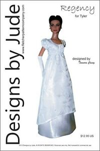 Regency Dress Doll Clothes Sewing Pattern for Tyler Wentworth Tonner