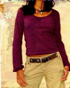 Girl-Pump-Long-Ruffle-Shirt-Miss-Petrolio-Purple-158-164-170-176-182-Top-New