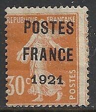 France 1921 YV Préobliteré 35  UNG  F/VF  SCARCE!