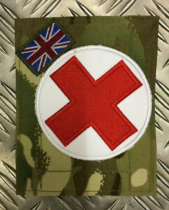 Genuine-British-Military-MTP-Blanking-Patch-Panel-w-Red-Cross-for-UBACS-PCS-C04