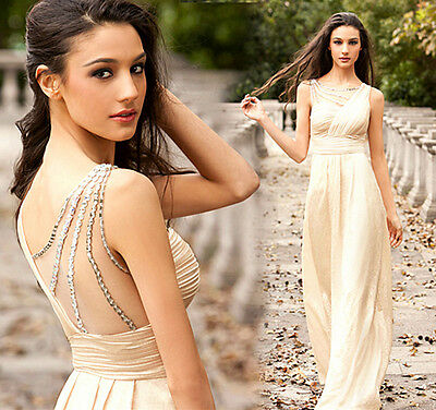 Women Long SEXY Bridesmaid Formal Gown Ball Party Cocktail Evening Prom Dress
