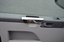 CHROME INNER DOOR HANDLE DASH TRIM SET COVERS FOR VW VOLKSWAGEN T5 TRANSPORTER