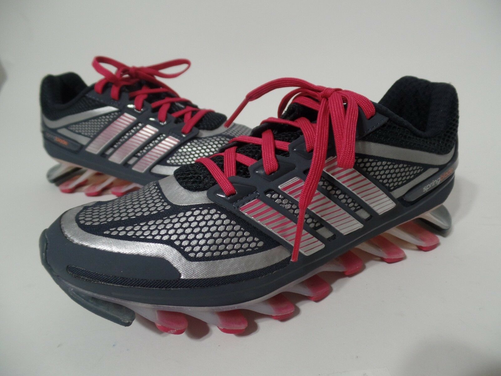ADIDAS Grey Pink Spring Blade Adipower Running Trainers Womens Size US 6
