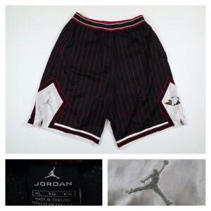 Vuelo De Air Jordan Para Hombre Xl Diamante Jumpman Chicago Bulls Baloncesto Pantalones Cortos A Rayas Ebay