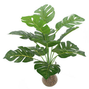 Faux Simulation Artificial Monstera Plant Leaf Fake Home