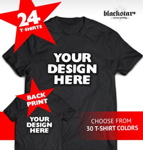 Cualquiera 24 1 en impresas Camisetas impresión en color lados personalizadas camisetas en pantalla ambos HFIOF4aq