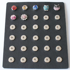 Fits Ginger Snaps SNAP 18mm Storage Organizer Mat Holds 30 Button Jewelry 18mm