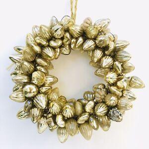 Vintage Gold Wreath Miniature Mercury Glass Christmas Ornaments Ebay