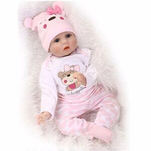 22 Cute Newborn Silicone Vinyl Reborn Gift Baby Doll Handmade