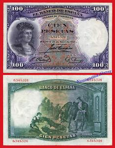 ESPANA-SPAIN-100-Pesetas-1931-G-Fernandez-de-Cordoba-Pick-83-MBC-VF