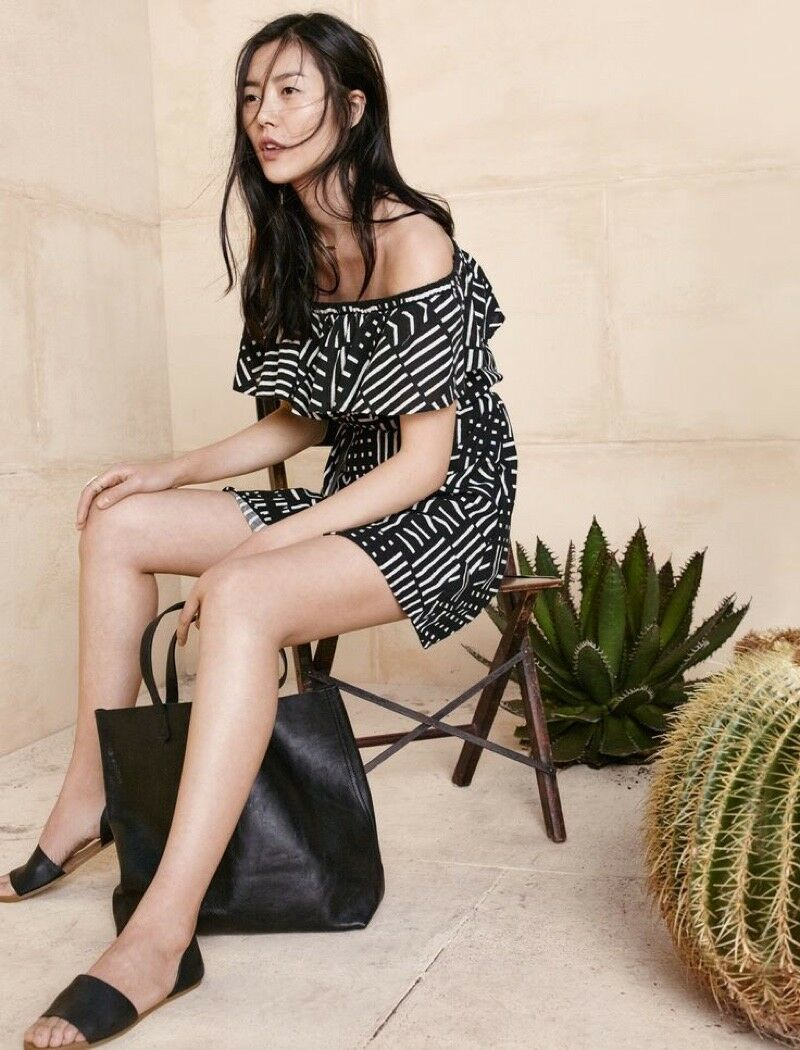 Madewell Rio Cover-Up Dress In Arrow Grid XS