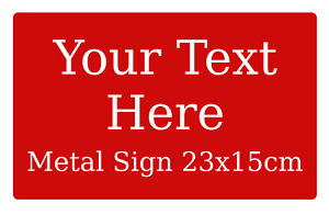 Personalised Text Vintage Metal Aluminium Sign Plaque For House Door 23x15cm