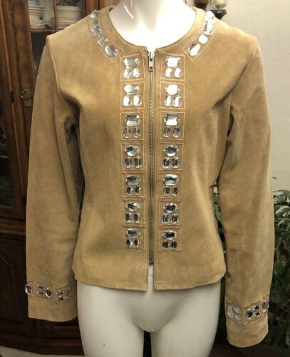 Boston aldrig Vintage Embelleshed Proper Jacket Suede slidt wTAAUqa