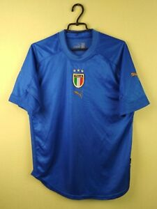 Italy-team-jersey-shirt-2004-2006-Home-official-puma-soccer-football-size-L