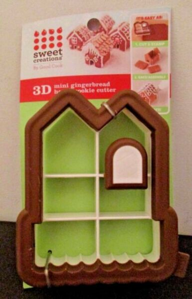 Sweet Creations Mini Gingerbread House Cookie Cutter Kit ...
