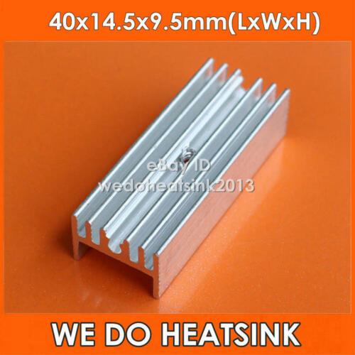 5pcs MOS TO220//TO-220 radiateur en aluminium dissipateur de chaleur 40x14.5x9.5mm