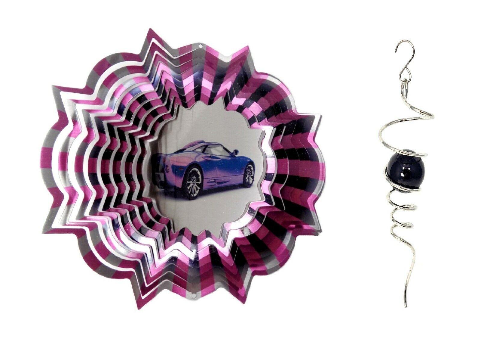 WorldaWhirl 3D Wind Spinner Race Car Sports Car SS Patio Whirligig Yard Twister