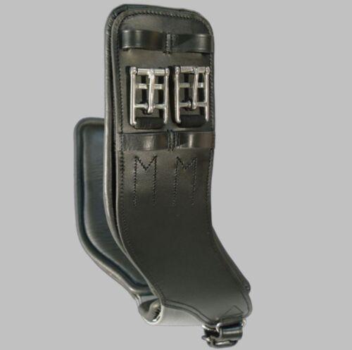 """28/"""" Black NEW Total Saddle Fit StretchTec Shoulder Relief Dressage Girth"""