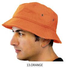 2b2889ab Bucket Hat Cap Cotton Fishing Boonie Brim visor Sun Safari Summer Men  Camping