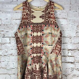 Mossimo-Women-039-s-Dress-Sleeveless-Tribal-Brick-Zip-Summer-Boho-Festival-Size-XL