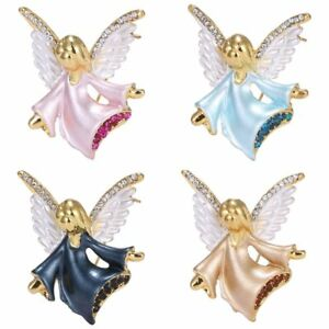 Womens Crystal Music Angel Wing Wedding Bridal Brooch Pin Jewellery ... 09d1473c3d