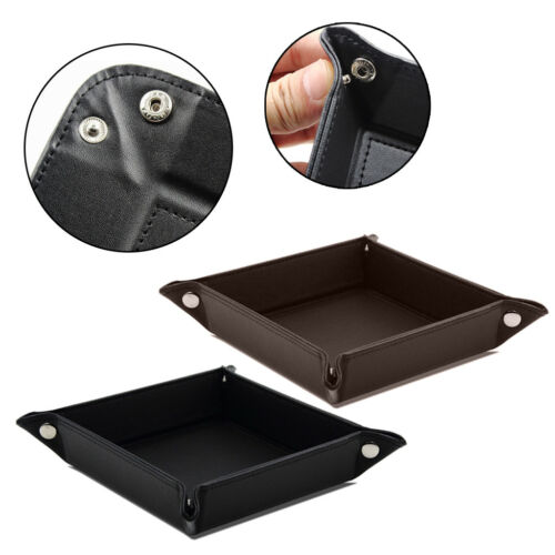 Jewelry Valet PU Tray Leather Catchall Tray Key Wallet Coin Box Stroage for Men