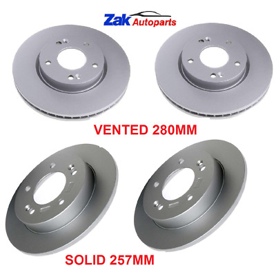 FRONT 2 BRAKE DISCS SET NEW VENTED 280MM FOR KIA SOUL 1.6 /& 1.6 CRDi 2009-2014