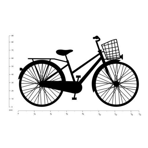 Classic Bicycle Retro Pedal Bike Wall Sticker WS-18727