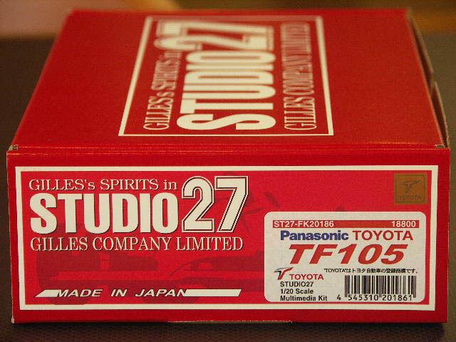 Studio 27 FK20186 120 Toyota TF105 2018 kits de coche modelo kit de resina