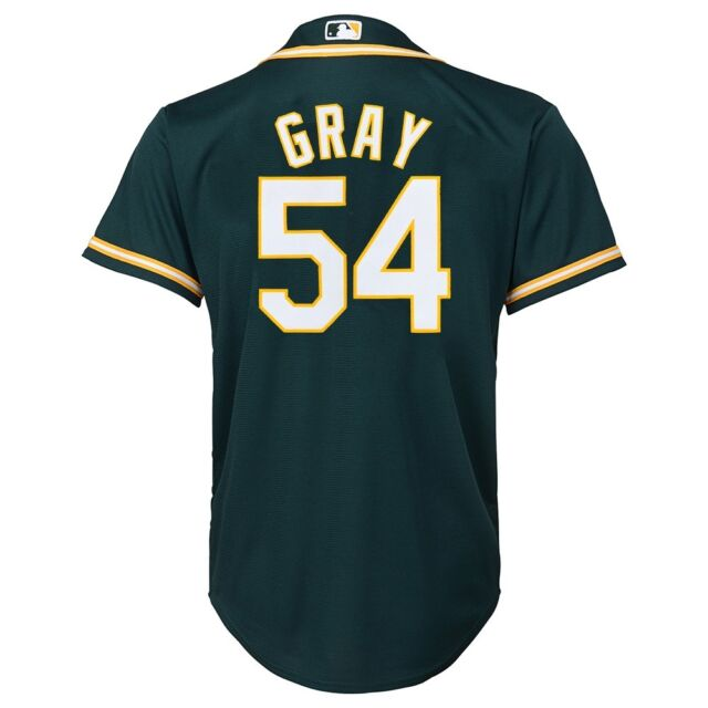 hot sale online e7890 67006 Majestic Athletic Youth Oakland Athletics Sonny Gray Replica Jersey Large