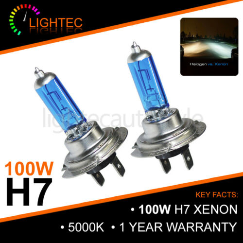 H7 100W HID WHITE XENON HALOGEN BULBS 12V PLASMA UPGRADE 6000k AUDI BMW FORD VW