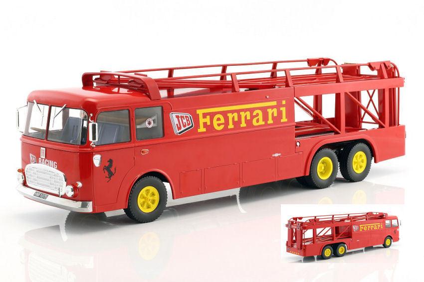 Fiat Babs 306 2 Ferrari Jcb 1970 Camión 1 18 Modelo NOREV