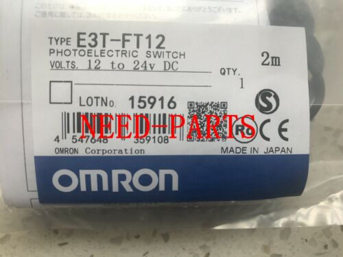 New In Box Omron PLC E3T-FT12 Photoelectric Switch Sensor E3TFT12 #FP