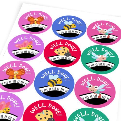 Happy insectes Piano Autocollant Étiquettes Enfants Professeur éloge Parent School