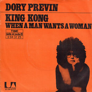DORY-PREVIN-KING-KONG-VERY-RARE-1972-SINGLE-7-034-DUTCH-ONLY-ART-COVER