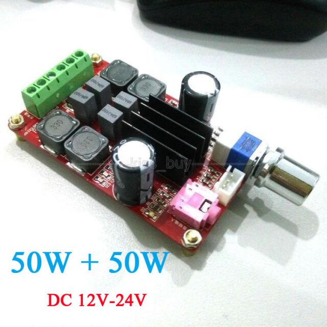 TPA3116D2 2*50W Digital Stereo Amplifier Board Class D Dual Channel  12V 24V car