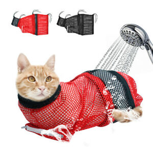 c4f81a89253 Cat Grooming Bag Mesh Cat Grooming Bathing Bag Cat Washing Bath Bag ...