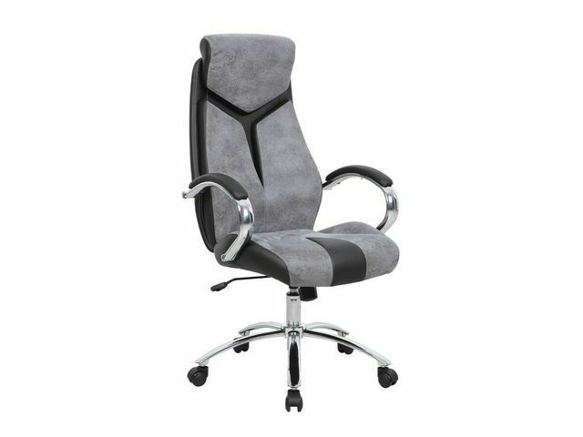 Lyra Grey Black Suede Effect Operator Computer Office Swivel Chair Graded 95 For Online Ebay