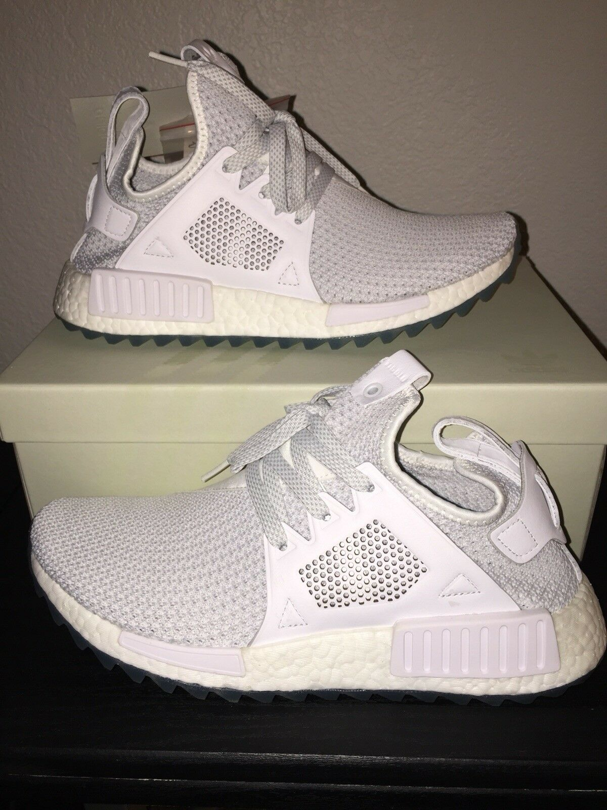 New 2017 Adidas NMD XR1 Tr Titolo BY3055 White Celestial Size 9