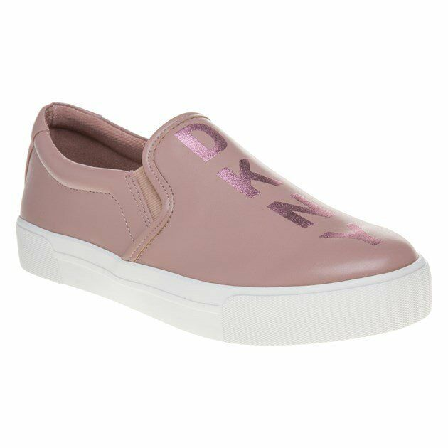 Femmes Neuf DKNY rose Bess Graphic Cuir baskets Sport-LUXE