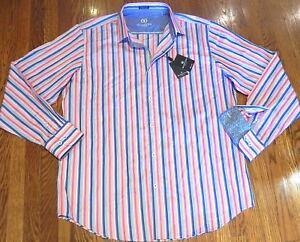 camisa para hombre Bugatchi a original Nwt vestido clásico grande L Sz vestir hombre de estrenar 8pwxqgTS