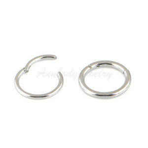 20G-18G-16G-14G-Steel-HINGED-Segment-Nose-Ring-Septum-Clicker-Daith-Hoop