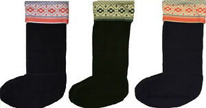 New Girls Ladies Wellington Wellie Boot Socks Thick Size 4-7