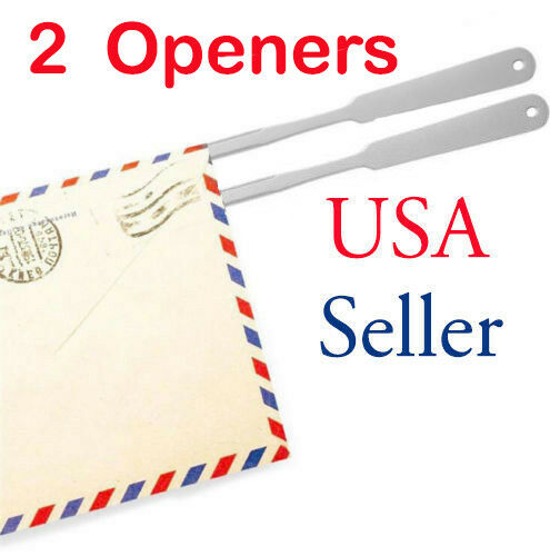 2 Metal Stainless Steel Letter Opener A4 Paper Cutterly Utility Cutter Tools NEW