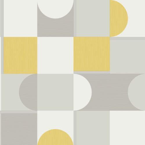 Marino Oslo Geometrische Tapeten Senffarben Fine Decor FD42388