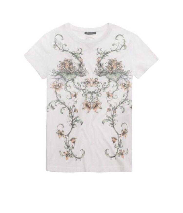 LAST HOURS   alexander mcqueen damen Weiß floral Tshirt Größe 44 BNWT 1