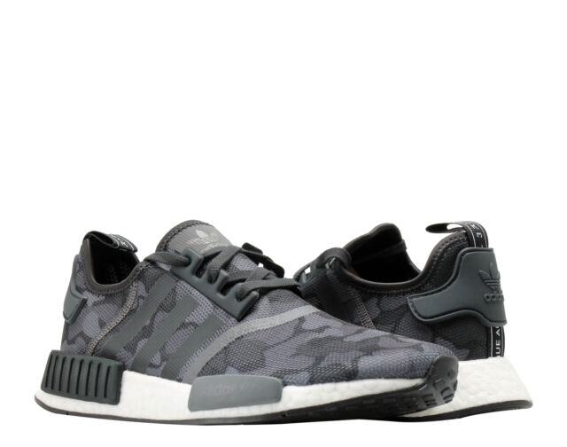 f938f0665 adidas Men s NMD R1 Running SNEAKERS Mesh Black Grey Camo Size 8 ...