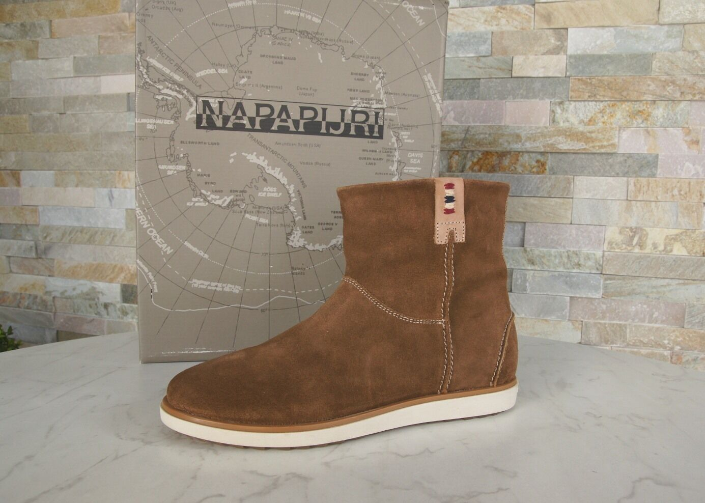 Napapijri Size 36 Ankle Boots Boots shoes Nora Cognac New Previously