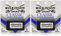Wilkinson Sword Classic Double Edge Razor Blades (2 Packs Of 5 = 10 Blades) on Sale